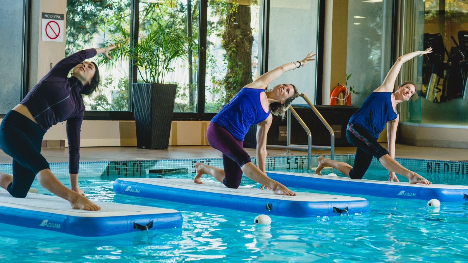 Liquid Yoga at Indoor Pool at The Westin Bayshore, Vancouver Hotel
